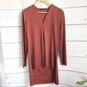 Zara hi low tunic top